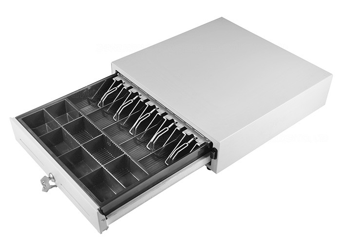 Lockable Manual Cash Drawer Under Counter Customized Steel Construction 410M