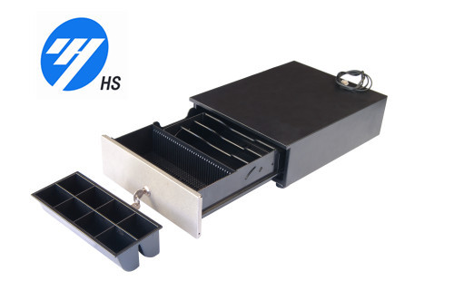 Portable Keylock Pos Cash Drawer Heavy Duty Cash Box For Supermarket Payment  HS-240B